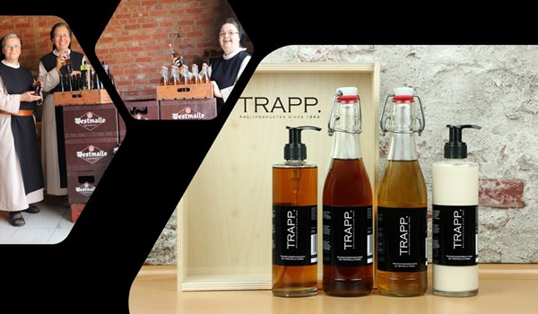 The Brecht Trappistines developed a complete care line with Westmalle Dubbel as an ingredient